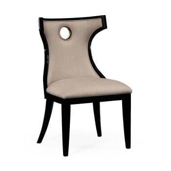 Jonathan Charles Furniture Designer Black Dining Chair