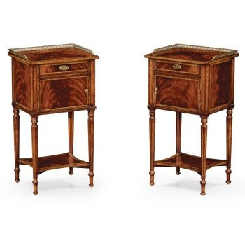 Jonathan Charles Furniture Pair of Mahogany Bedside Tables