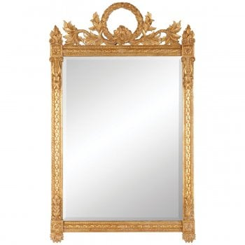 Jonathan Charles Furniture French Gold Rectangular Ornate Mirror