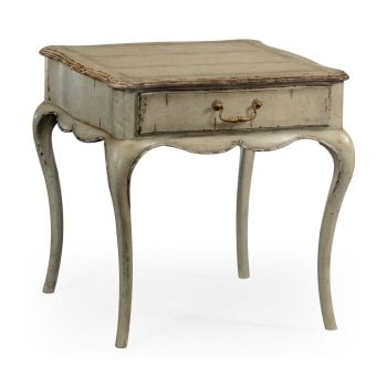 Jonathan Charles Furniture French Grey Painted Square Bedside Table