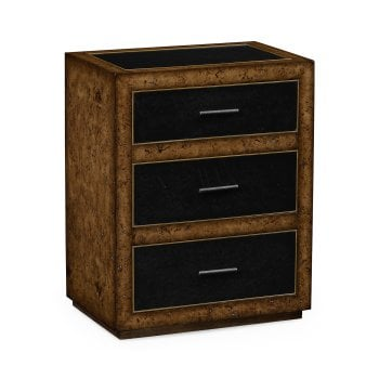 Jonathan Charles Furniture Rustic Oak & Leather Chest of Drawers