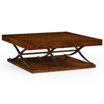 Jonathan Charles Furniture Large Square Coffee Table In Industrial Style
