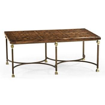 Jonathan Charles Furniture Argentinian Walnut & Iron Coffee Table