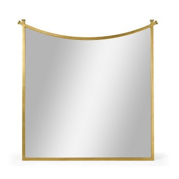Jonathan Charles Furniture Designer Gold Wall Mirror With Inverted Arch