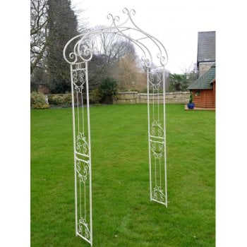 White Metal Garden Arch For Climbing Plants