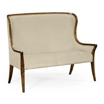 Jonathan Charles Furniture High Back Settee / Upholstered Bench