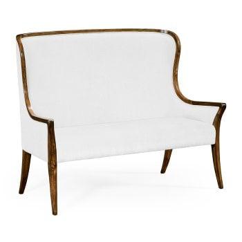 Jonathan Charles Furniture High curved back upholstered settee (COM)