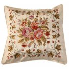 Embroidered Cushion Cover, Beige