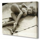 Marilyn Monroe Bikini Black & White Canvas