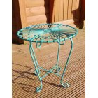 Blue Retro Atomic Garden Table