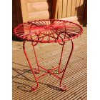 Red Retro Atomic Garden Table