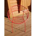 Atomic Garden Chair / Red Retro Atomic Hoop Chair