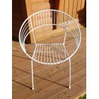 Atomic Garden Chair/White Retro Atomic Hoop Chair