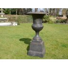 Black Planter Urn with Base