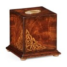 Jonathan Charles Furniture Mahogany Tissue Box With Inlays
