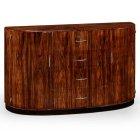 Jonathan Charles Furniture Art Deco Demilune Sideboard, High Lustre
