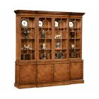 Jonathan Charles Furniture Large Walnut Glazed China Cabinet, Display Cabinet, Bookcase