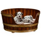 Jonathan Charles Furniture Luxury Dog Bed, Small Size 25''