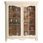AM Classic Furniture French Painted White Display Cabinet/Bookcase, Louis XV