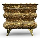 Boca Do Lobo Furniture Crochet Luxury Nightstand/Designer Bedside Chest
