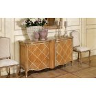 AM Classic Furniture Sideboard Cabinet With Decorated Doors