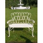 Country Cottage Outdoor Bench, White