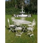 Cream 6 Seater Outdoor Dining Set/Cream Patio Set