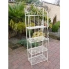 White Plant Theatre / Metal Tiered Plant Stand