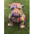 Life Size English Bulldog Statue, Multicoloured