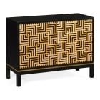 Jonathan Charles Furniture Designer Black Cabinet With Geometric Shape