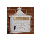 Wall Mounted Mailbox / White Letterbox
