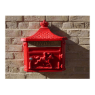 Wall Mounted Mailbox / Red Letterbox