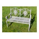 Stunning Metal Outdoor Grey Bench