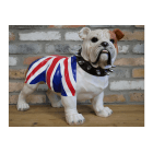 Life Size English Bulldog Statue Union Jack