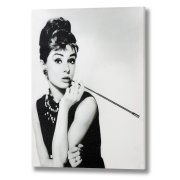 Audrey Hepburn With Cigarette Holder Canvas