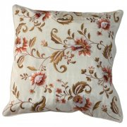 Embroidered Cushion Cover, Floral