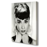Audrey Hepburn Black & White Portrait Canvas