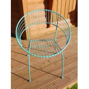 Atomic Garden Chair / Blue Retro Atomic Hoop Chair