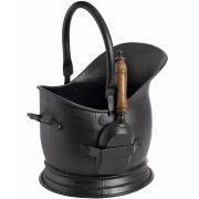 Victorian Black Coal Bucket with Shovel