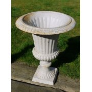 White Planter Urn with Base