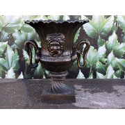 Planter Urn with Snake Handles, Bronze Finish