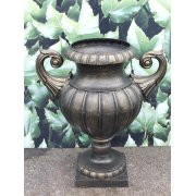 Large Planter Urn, Bronze Finish