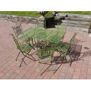 Green 6 Seater Outdoor Dining Set