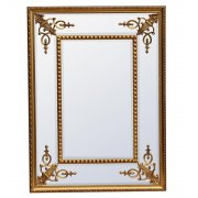 Bevelled Gold Wall Mirror Rectangular