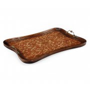 Jonathan Charles Furniture Walnut Serving Tray, Rectangular