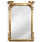 Jonathan Charles Furniture Art Nouveau Gilded Mirror