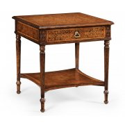 Jonathan Charles Furniture Walnut Bedside Table, French Style