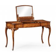 Jonathan Charles Furniture Walnut Dressing Table With Mirror