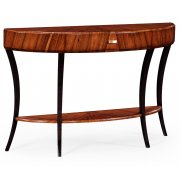 Jonathan Charles Furniture Art Deco Demilune Console Table, High Lustre