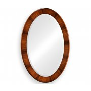 Jonathan Charles Furniture Art Deco Oval Wall Mirror, High Lustre